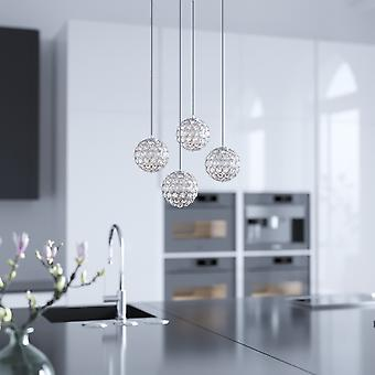 MARS 4 Mini colgante Cristall Ball Lighting Nickel - LED Hanging Light Fixture