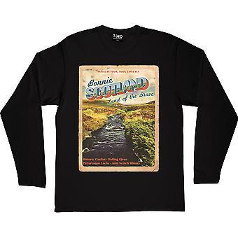 Bonnie Scotland Black Long-Sleeved T-Shirt