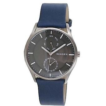 Reloj de hombre Skagen Reloj de pulsera Holst Titanium cuero SKW6448