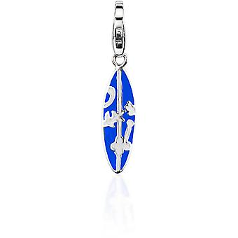 Charm Pierre Lannier JC99A190 - Charm Pendentif Argent Bleu Femme