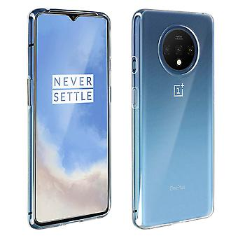 Back case + Screen Protector Tempered Glass for Oneplus 7T - Transparent