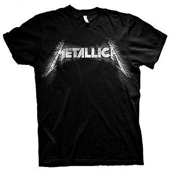 Metallica Logo With Rear Print James Hetfield Official T-Shirt