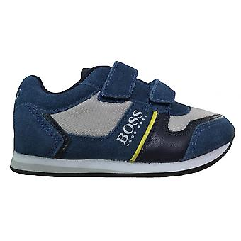 Hugo Boss Boys Hugo Boss Kids Slate Blue Velcro Trainers