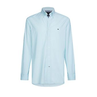Tommy Hilfiger Natural Soft End On End Shirt Ocean Tide