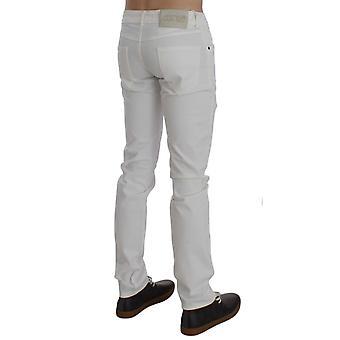 Exte White Cotton Stretch Slim Fit Jeans
