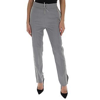 Fabiana Filippi Pad260w857a6028146 Women's Grey Wool Pants