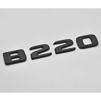 Matt Black B220 Flat Mercedes Benz Car Model Rear Boot Number Letter Sticker Decal Badge Emblem For B Class W245 W246 W247 AMG
