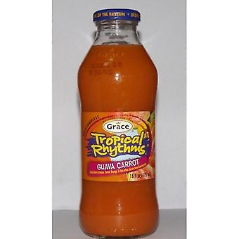 Grace tropiska rytmer Guava Morot Cockta-( 473 Ml X 12 Burkar )
