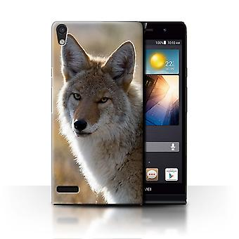 STUFF4 Case/Cover for Huawei Ascend P6/Coyote/North America Animals