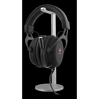 Headphone stand, aluminum, slide guard, silver