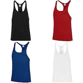 AWDis Just Cool Mens Plain Muscle Sports/Gym Vest Top