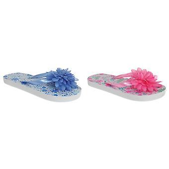 Sand Rocks Childrens Girls 3D Flower Flip Flops
