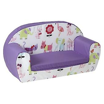 Ready Steady Bed Kids Children Mini Lounger | Kids Sofa Seat Chair | Great for Playroom kidsroom Living Room | Colourful Lightweight and Durable (Cute Pets)