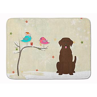 Christmas Presents between Friends Chocolate Labrador Machine Washable Memory Fo