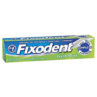 Fixodent complete denture adhesive cream, fresh mint, 2.4 oz