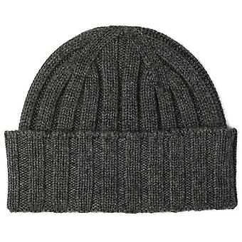 Johnstons of Elgin Seamless Chunky Ribbed Cashmere Beanie - Black