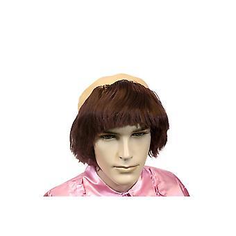 Perücken-Vater-Perücke Glatze mit braunen Haaren