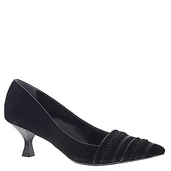 J. Renee Womens Suede Pointed Toe Classic Pumps