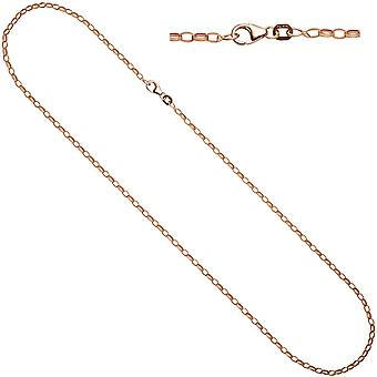 Women's anchor chain 925 silver gold plated 70 cm chain necklace carabiner
