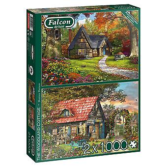 Falcon Speciale Set Puzzel - Woodland Cottage, 2 x 1000 stuk