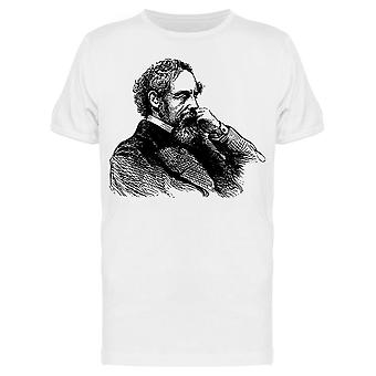 Line Drawing Of Charles Dickens Tee Men's -Image by Shutterstock