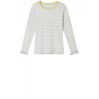 Sandwich kleding vers grijs en wit gestreepte top