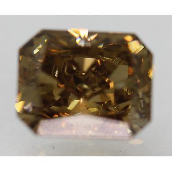 Cert 2.01 Carat Int Brown VS1 Radiant Natural Loose Diamond 7.49x6.11mm 2VG