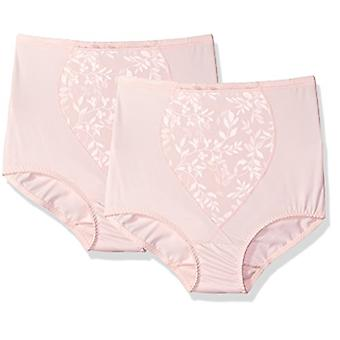 Bali Women's Shapewear Tummy Panel Brief Firm Control 2-Pack, Blushing Pink J...
