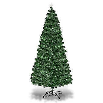7 ft/ 2.1m Fiber Optic Artificial Green Christmas Tree 8 Option Changing Lights LED
