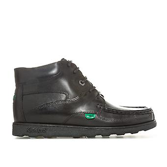 Boy's Kickers Junior Fragma Lace Boot in Black