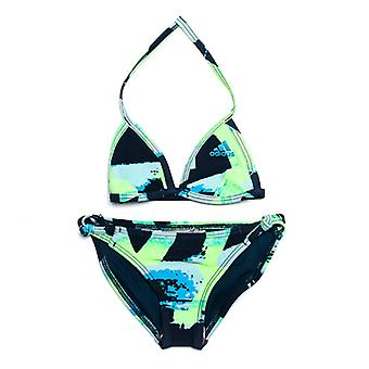 Girl's adidas Junior All Over Print Bikini in blau