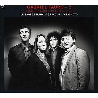 Eric Le Sage - Gabriel Faur 2: Quatuors Avec Piano, importação EUA op. 15 & 45 [CD]
