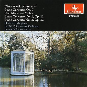 Schumann, C./Weber, C.M. - Clara Wieck Schumann, Carl Maria Von Weber: Piano Concerto [CD] USA import