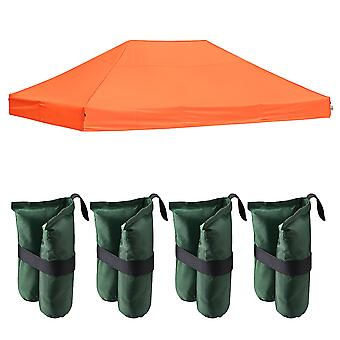 Instahibit 14.7x9.8' 550D Outdoor Event Pop Up Canopy Replacement CAPI-84 Fabric Tent Top Cover with 4X Weight Sand Bag