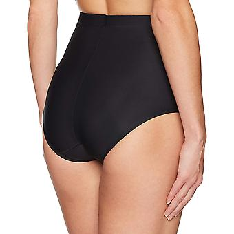 Arabella Women's Matte Microfiber Shapewear Brief, Black, Medium