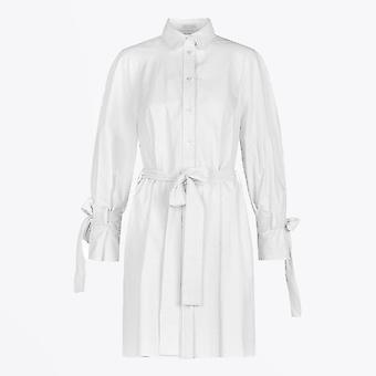 Harris Wharf - Robe Raglan rayée Seersucker - Blanc cassé