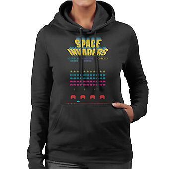 Space Invaders 1978 Arcade Game Play Women's Hooded Sweatshirt