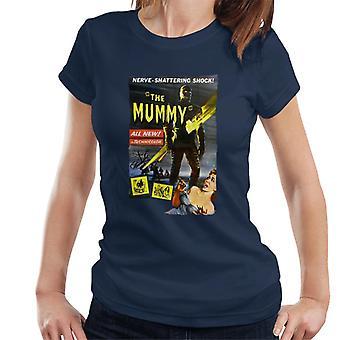 Hammer Horror films Mummy zenuw Shattering shock vrouwen ' s T-shirt