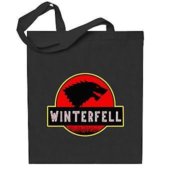 Stark Winterfell Parque Jurásico Juego de Tronos Totebag