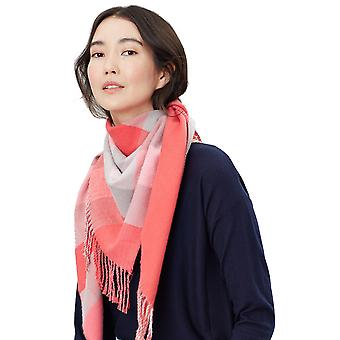 Joules Womens Wilstow Reversible Fringed Triangle Scarf
