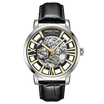 Kenneth Cole New York Herren-Armbanduhr Automatik KC51018002 Leder