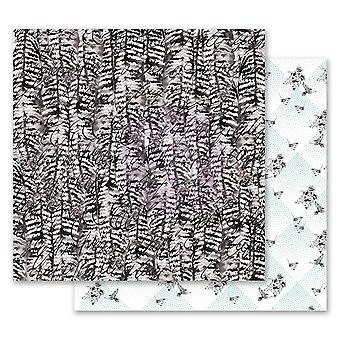 Prima Markkinointi Flirty Fleur 12x12 Tuuman Paperi Pakkaus Linnut Sulka