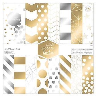 Papermania 6x6 Inch Paper Pack Modern Lustre (36pk) (PMA 160509)