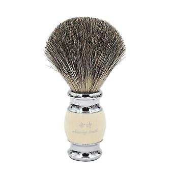 Vintage Hand Crafted Pure Badger Hair With Resin Handle - Metal Base Shaving Brush