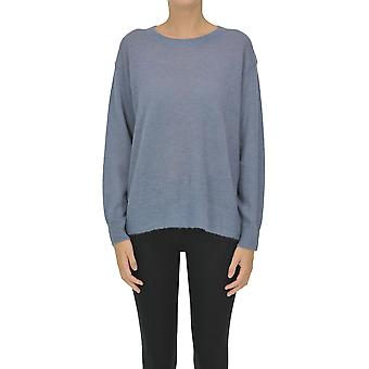 Dries Van Noten Ezgl093181 Women's Light Blue Wool Sweater