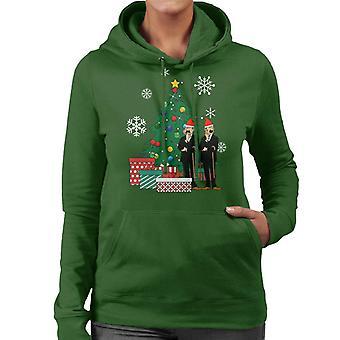 Thomson and Thompson Around The Christmas Tree Tintin Women's Hooded Sweatshirt