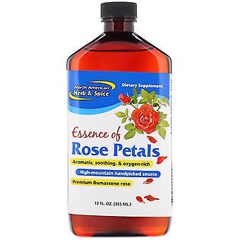Herbe et épices nord-américaines, Essence de pétales de rose, 12 fl oz (355 ml)