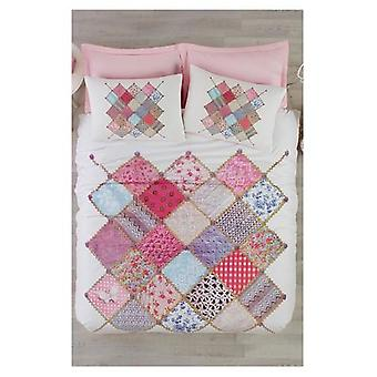 Linens Duvet Cover - Patterned Cotton Double