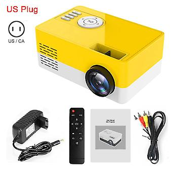 Mini Portable Projector Support 1080p Video Display Home Media Player Pocket Video Beamer Gift For Friends Kids