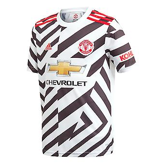 adidas Manchester United 2020/21 Kids Short Sleeve Third Football Shirt White